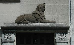 Sphinx rue Thiers temple maçon Rennes