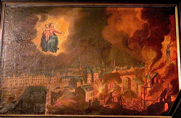 Le tableau votif de l'incendie de 1720