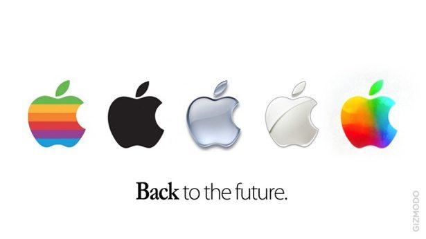apple, logo, arc-en-ciel