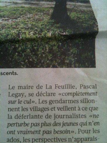 libé, humour, La Feuillie, Pascal Legay, cul, sur le cul