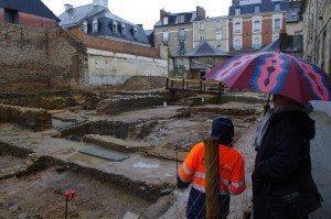 cour nord, couvent des Jacobins, fouilles, centre des congrès