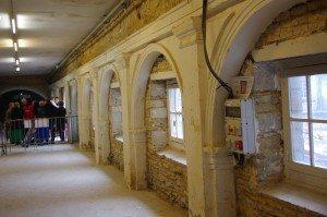 arcades, couvent des jacobins, fouilles, rennes, voie romaine, cloître