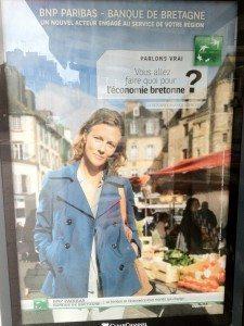 BNP, crédit agricole, publicité