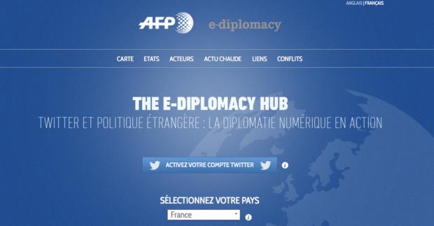 Agence France-Presse, afp, E-diplomacy, Twitter, François Hollande, Alain Gresh, microblogging, Chine, Weibo, hugo chavez, états-unis