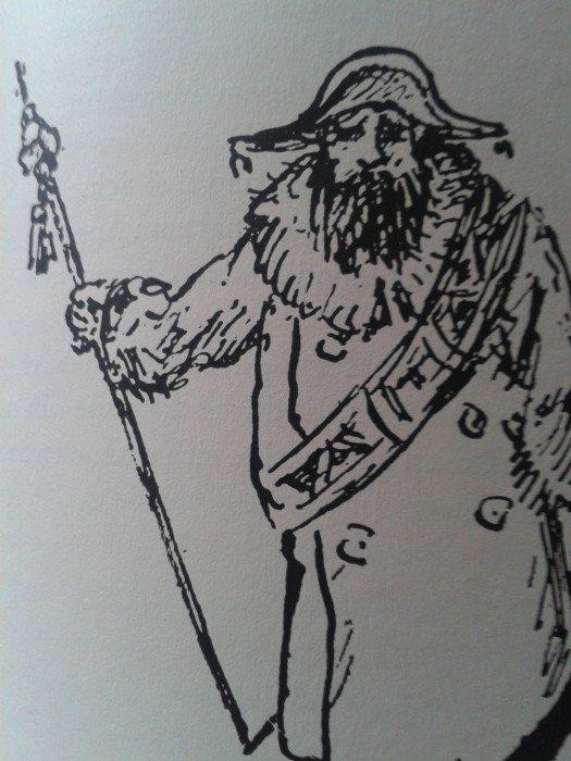 Illustration d'Alfred Kubin pour l'édition allemande du Double de Dostoïevski