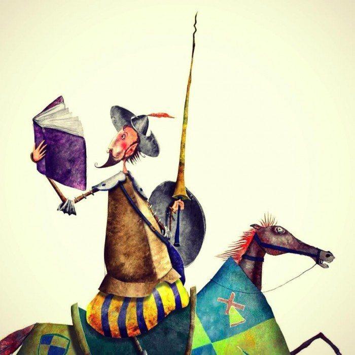 Don Quichotte par l'artiste d'origine japonaise Cosei Kawa
