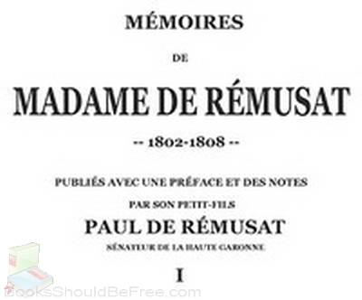 Memoires-de-madame-de-Remusat-1-3-by-Remusat