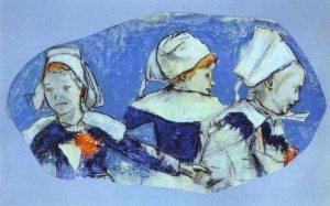 Petites bretonnes dansant 1888