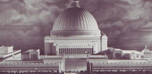 Germania Welthauptstadt : maquette du projet de nouveau Reichstag par Albert Speer
