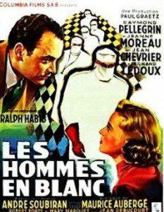 """""""Les hommes en blanc"""" - Affiche du film de Ralph Habib - 1955"""