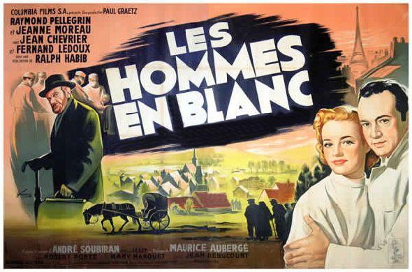 Les hommes en blanc - Affiche du film de Ralph Habib - 1955