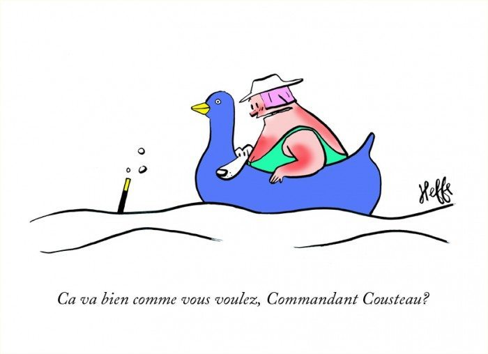 Commandant Cousteau, heffe