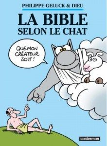 bible, le chat, geluck, philippe, eve, adam, création testament