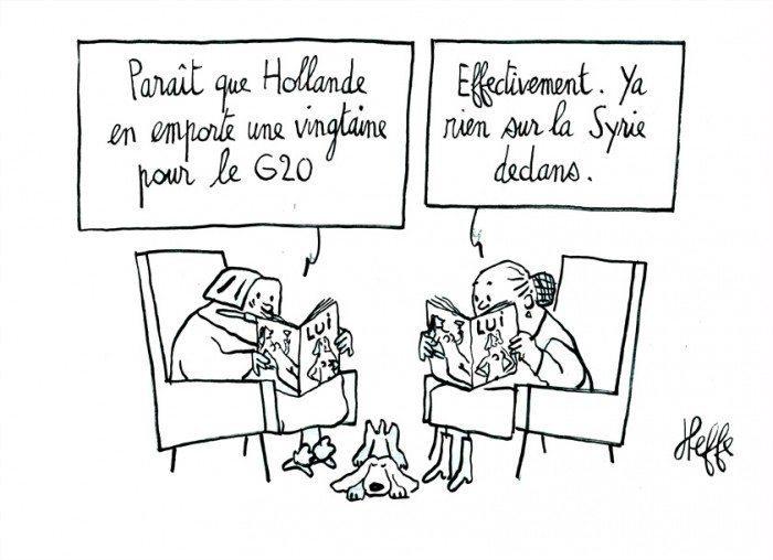 Actus : Lui, Hollande et la Syrie