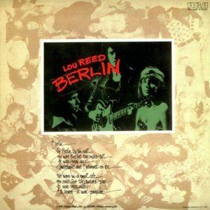 """""""Berlin"""" pochette - Lou Reed"""