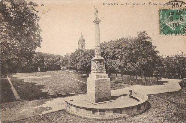 parc, rennes, Thabor, colonne, Duguesclin