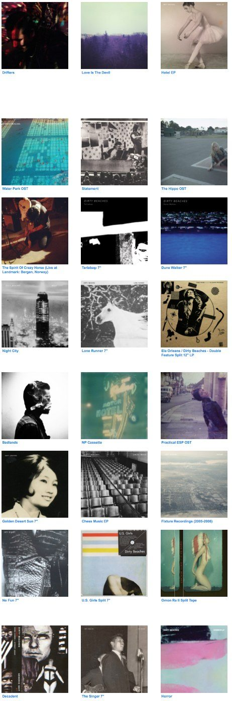 dirty beaches, albums