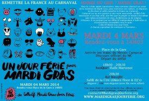 carnaval, mardi gras, jour férié, rennes, 2014