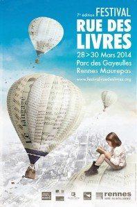 rue des livres, rennes, festival, gayeulles, affiche