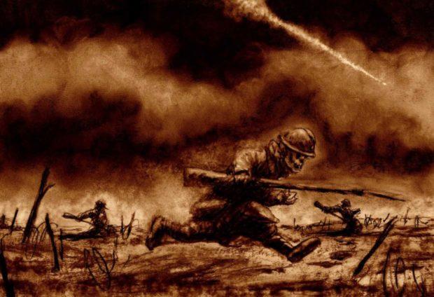 14-18, bd, bande, dessiné, guerre, grande, première, minute, grands-pères, gueules cassées