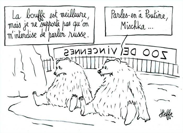 ours, zoo de vincennes, russie, poutine