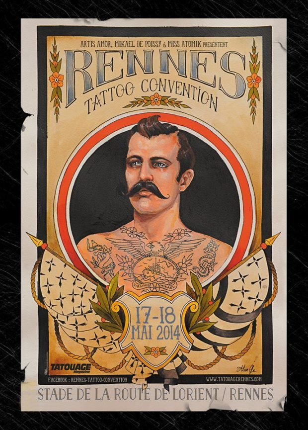 tatouage, rennes, convention, miss atomik, mickael de poissy