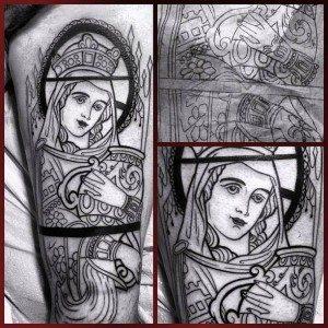 Sainte Marguerite, tatouage,  par Mikael de Poissy