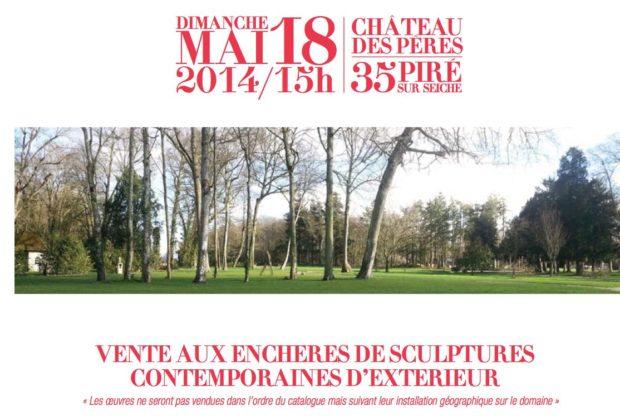 vente enchères, château des pères, sculptures, outdoor, mai 2014