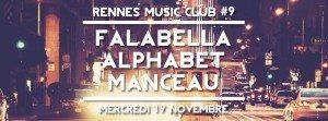 Rennes Music Club, Falabella, Manceau, Alphabet, Bars'n Breizh,1988 Live Club