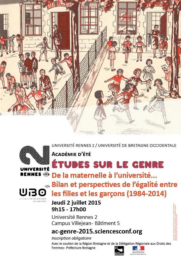 Académie d'été du DIU Etudes sur le genre université rennes 2