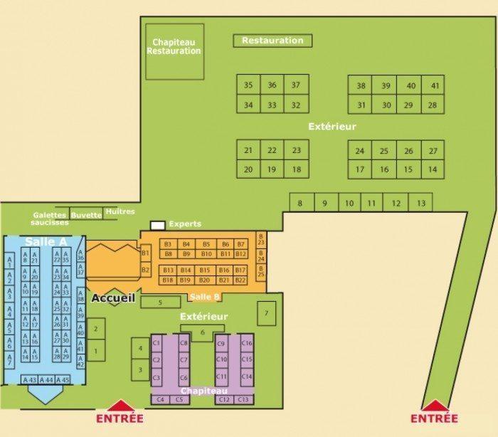 Plan du Salon des Antiquaires