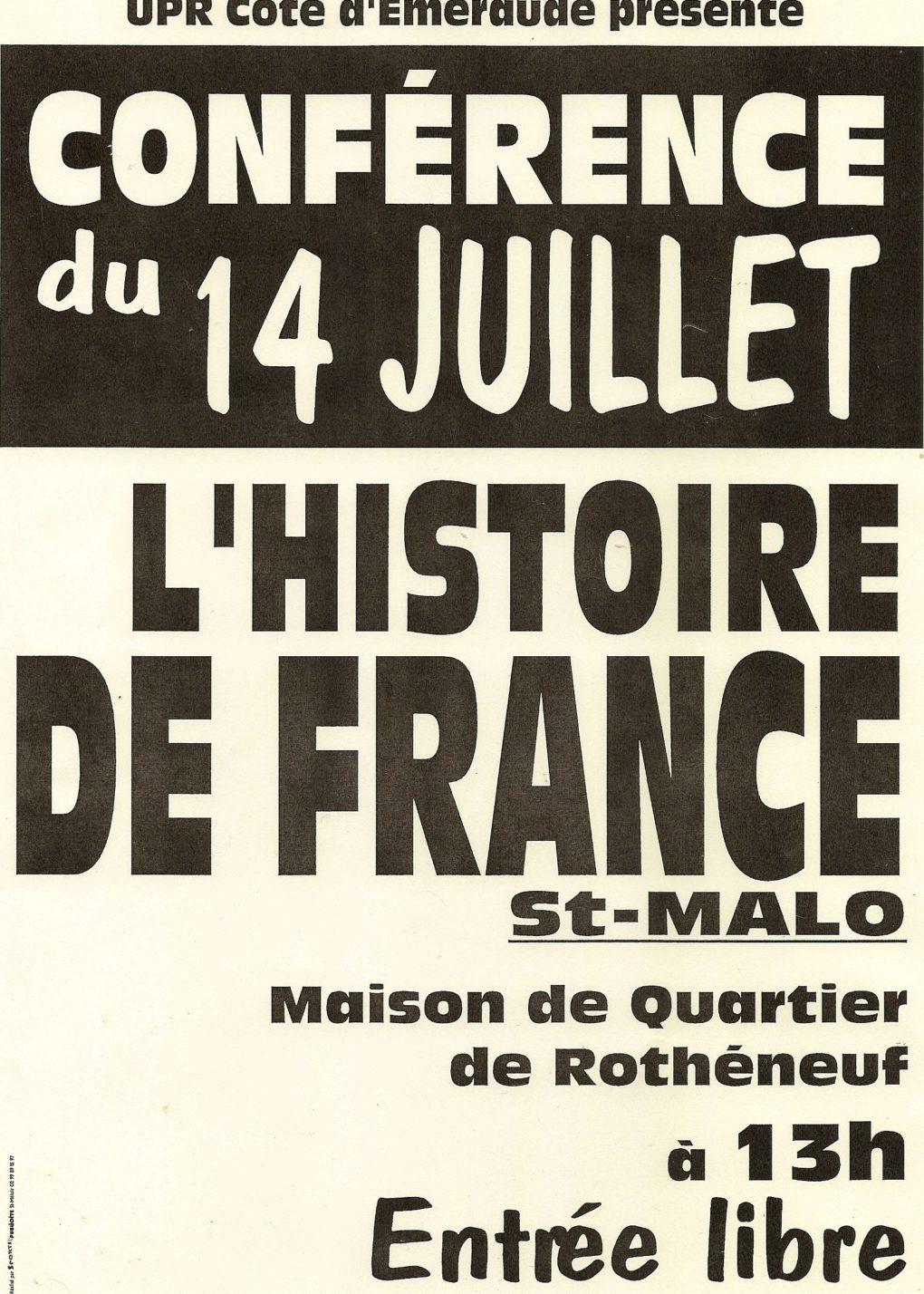 Saint-Malo : François Asselineau, conférence du Président Fondateur de L'UPR