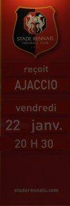 stade rennais, ajaccio, 22 janvier 2016