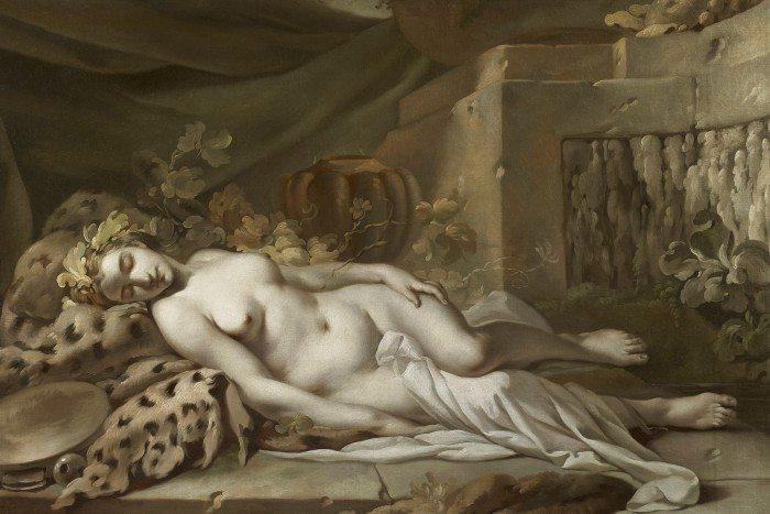 Bacchante endormie