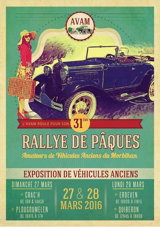 31e rallye de Pâques de véhicules anciens Quiberon