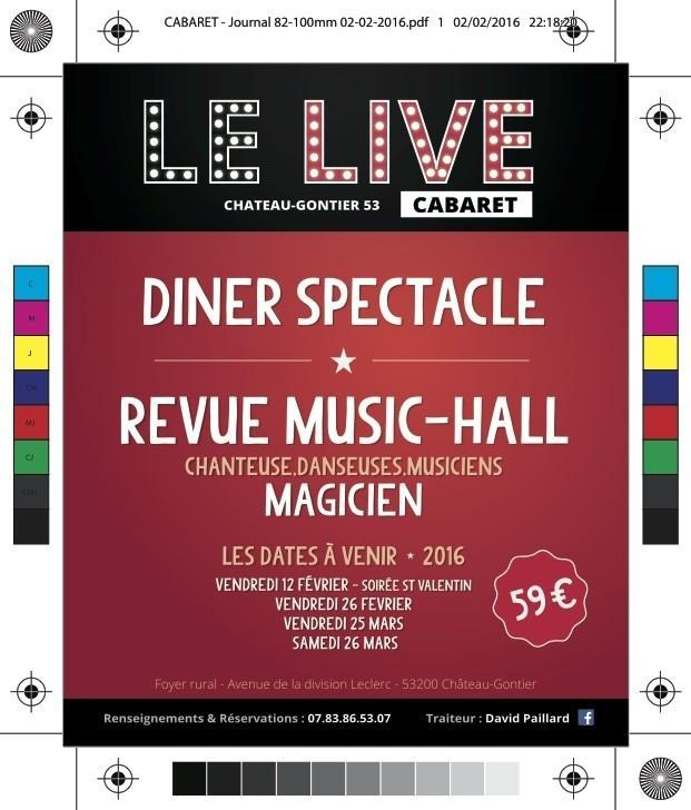 Cabaret Le Live : dîner-spectacle Château-Gontier