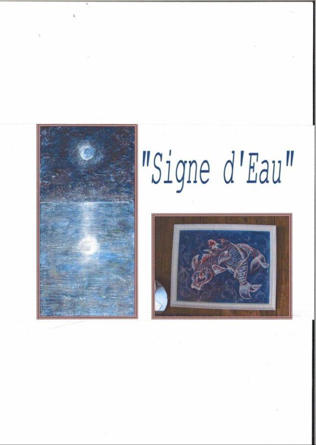 Exposition de peinture Signe d'Eau d'Iza Barrier Sainte-Radégonde-des-Noyers