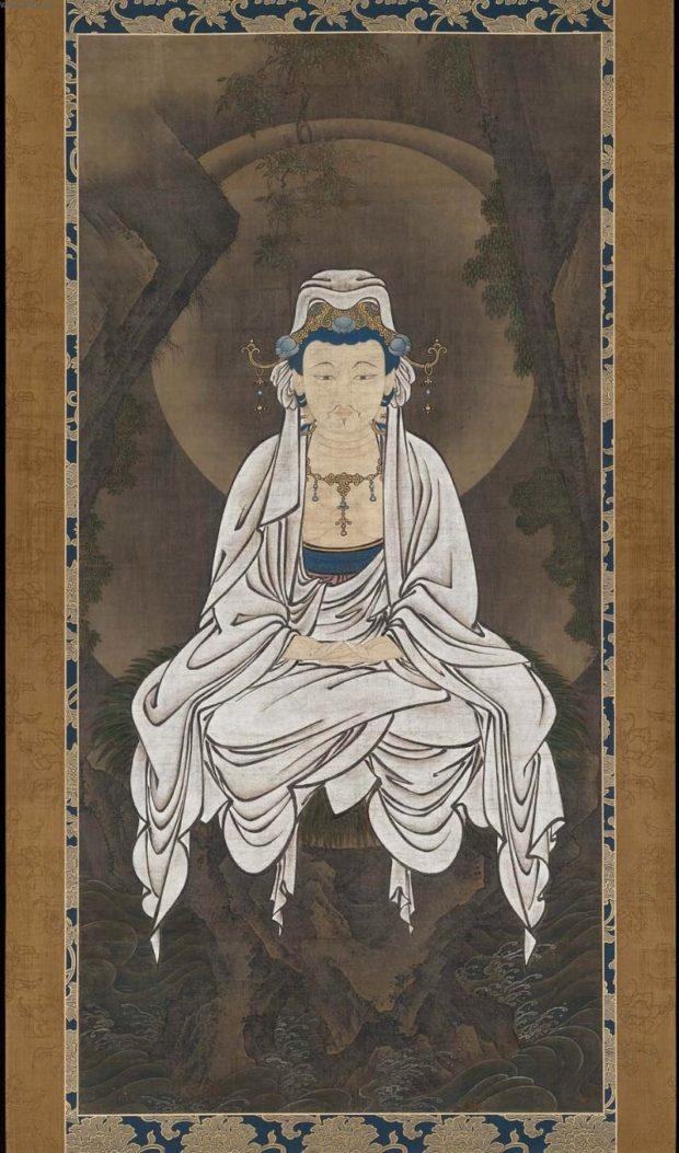 Avalokiteśvara, buddha de la miséricorde universelle, représentation usuelle au Japon