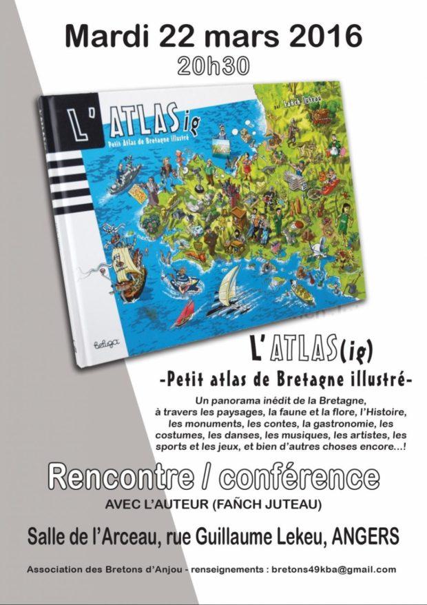 L'Atlas (ig) petit atlas illustré de Bretagne avec l'auteur Fañch Angers