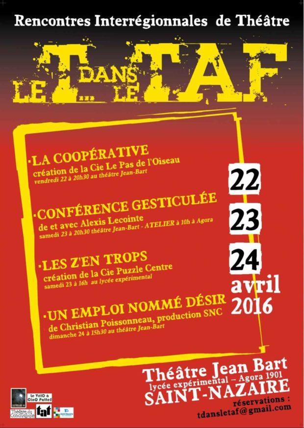 Le T dans le Taf, théâtre et travail. Saint-Nazaire