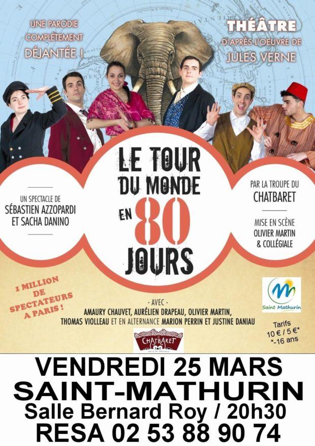 Le tour du monde en 80 jours par la compagnie du Chatbaret Saint-Mathurin
