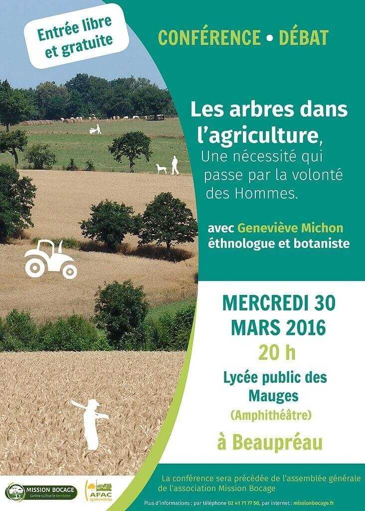 Les arbres dans l'agriculture par G. Michon, ethnobotaniste Beaupréau-en-Mauges