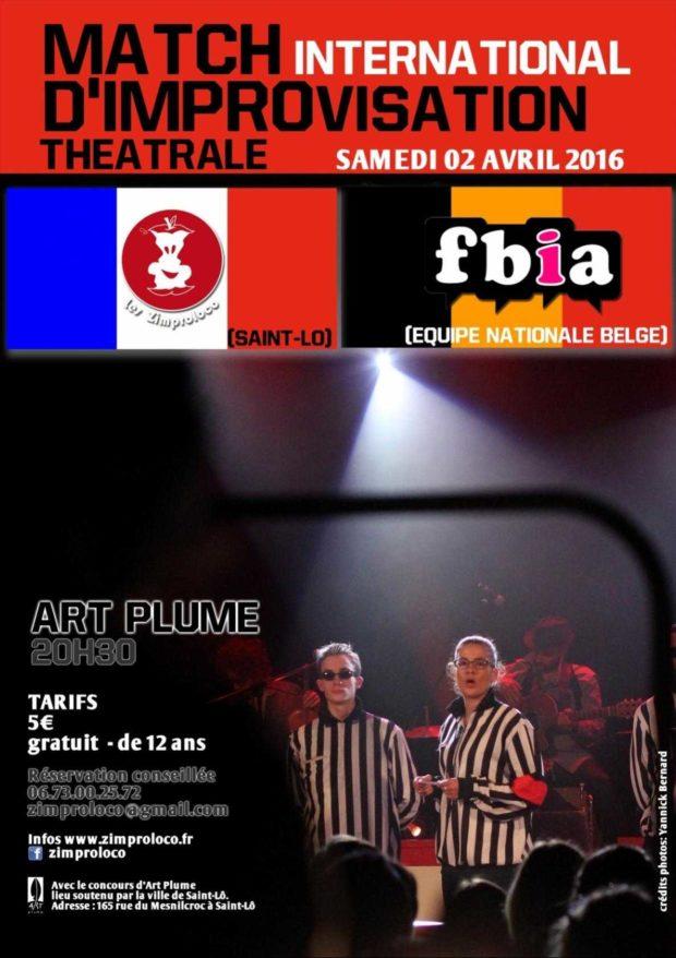 Match d'impro : Zimproloco VS FIBA (Belgique) Saint-Lô