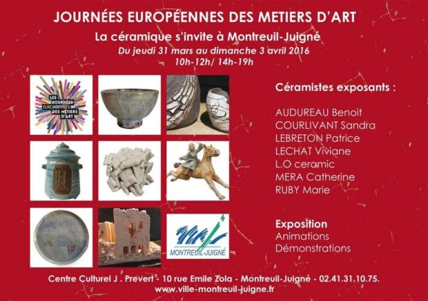 Métiers d'art : la céramique Montreuil-Juigné