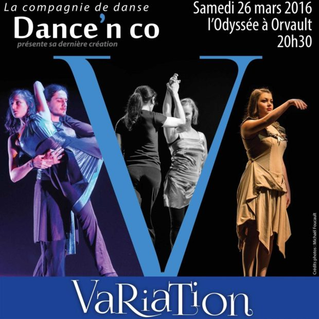 Nouveau spectacle de la compagnie Dance'n Co : Variation Orvault