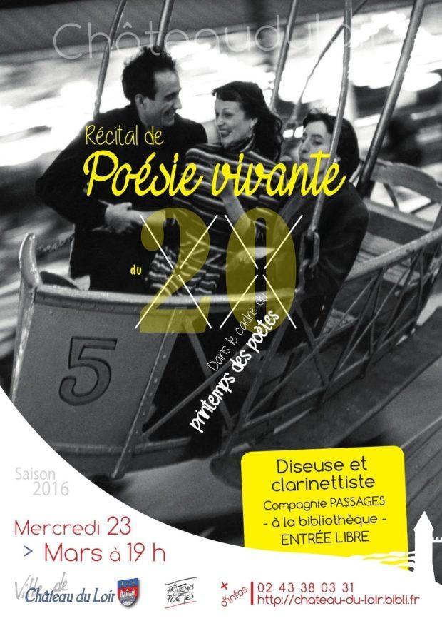 Poésie vivante du XXe siècle Château-du-Loir