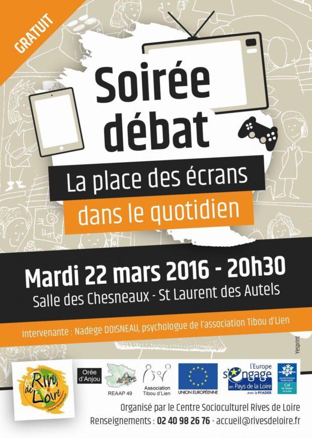 Soirée débat : la place des écrans dans le quotidien Orée-d'Anjou
