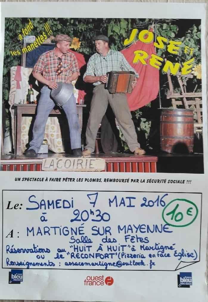 Spectacle José et René : A fond les manettes Martigné-sur-Mayenne