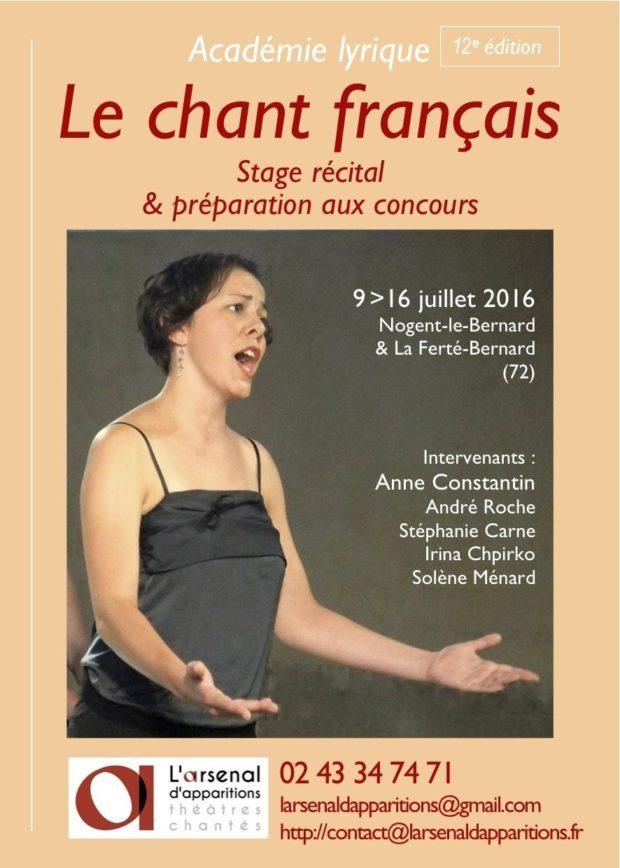 Stage d'été le chant français La Ferté-Bernard
