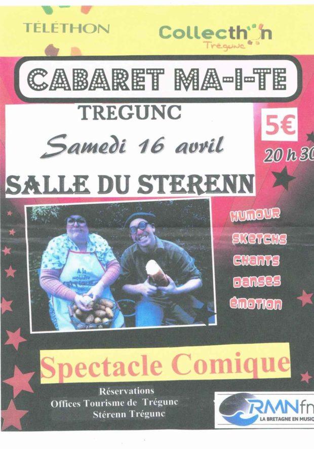 Téléthon 2016, spectacle du cabaret Maïté (Humour) Trégunc
